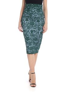 N° 21 - Lace pencil skirt in emerald green