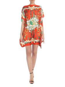 Parosh - Dress with foulard and floral pattern