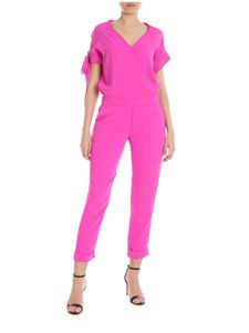 Parosh - Cyclamen pink jumpsuit with crossed neckline