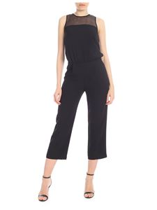 Patrizia Pepe - Black crop jumpsuit with rear neckline