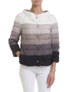 Herno - Double face down jacket in shades of gray