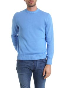 Fedeli - Arg pullover in pure light blue cotton