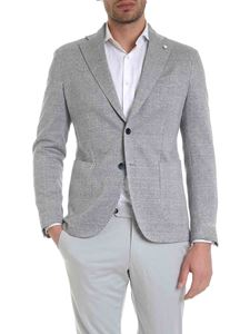 L.B.M. 1911 - Houndstooth jacket in blue and white