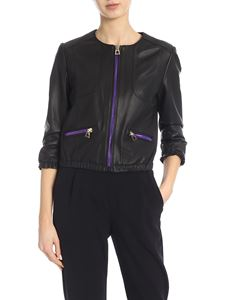 Diego M - Nappa leather jacket in black