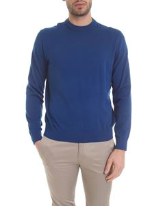 Paul Smith - Cotton knitted pullover in bright blue