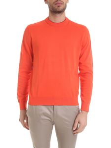 Paul Smith - Cotton knitted pullover in orange