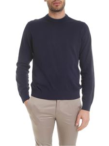 Paul Smith - Cotton knitted pullover in blue