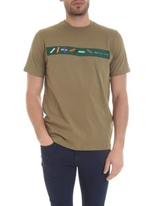 Paul Smith - Block T-shirt in army green color
