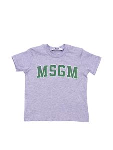 MSGM - Grey t-shirt with College logo