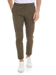Paul Smith - Army green pure cotton trousers