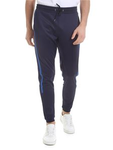 Paul Smith - Pants in dark blue technical fabric