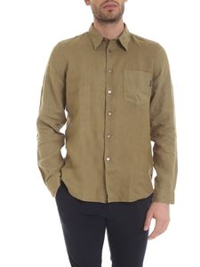 Paul Smith - Shirt with front pocket in olive green