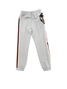 Gucci - Pants in gray with tiger patch