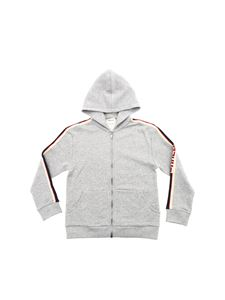 Gucci - Sweatshirt in gray with branded bands