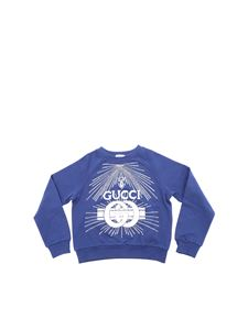 Gucci - Light blue rhinestones sweatshirt