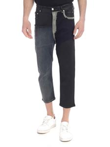 Rick Owens - Patchwork jeans in black and blue