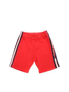 Gucci - Red shorts with logo bands