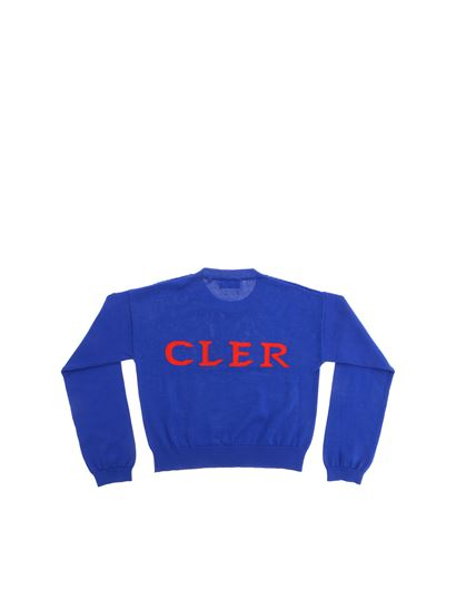 Moncler Jr - Pullover in bright blue with Moncler inlay