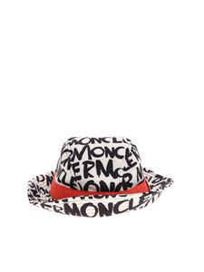 Moncler Jr - White hat with printed logo