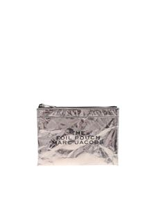 Marc Jacobs  - Clutch bag in anthracite color leather with wrinkled effect