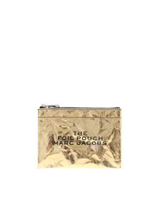 Marc Jacobs  - Clutch bag in golden leather with wrinkled effect
