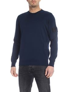 Stone Island - Pullover in blue with front pocket