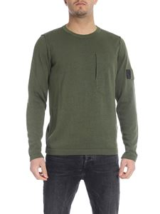 Stone Island - Pullover in army green with pocket