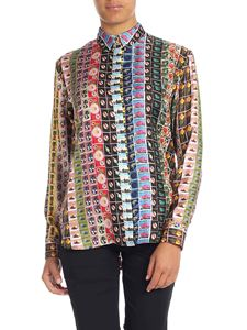 Paul Smith - Multicolor shirt with stamps print