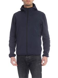 Herno - Blue hooded jacket