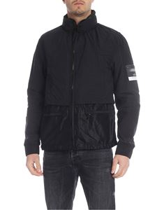Stone Island - Jacket in black with removable hood