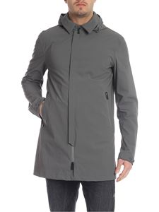 Herno - Gray overcoat with hood