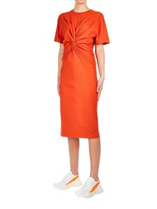 Erika Cavallini - Jersey dress in lobster color