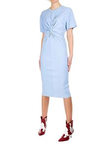 Erika Cavallini - Jersey dress in light blue