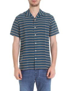 PS by Paul Smith - Beige striped turquoise shirt