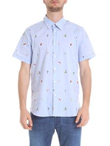 PS by Paul Smith - Stretch cotton shirt in light blue