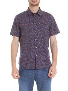 PS by Paul Smith - Blue shirt with shavings print