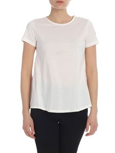 Moncler - Double fabric T-shirt in white