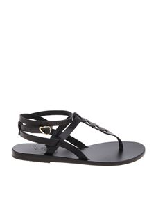 Ancient Greek Sandals - Estia Links sandals in black