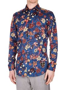 Etro - Floral printed shirt in blue