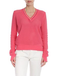 PS by Paul Smith - Pink openwork knitted pullover