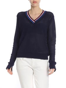 PS by Paul Smith - Blue openwork knitted pullover