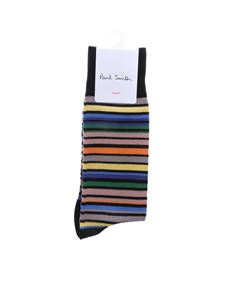 Paul Smith - Black Simba socks with multicolor stripes