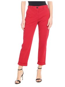 PS by Paul Smith - Pantalone in cotone stretch rosso