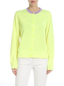 PS by Paul Smith - Neon yellow knitted cardigan