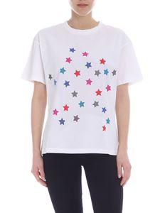 PS by Paul Smith - White T-shirt with star print