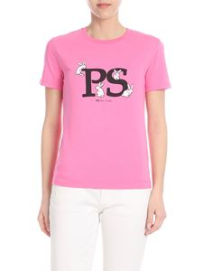 PS by Paul Smith - Fuchsia T-shirt with PS Rabbit print