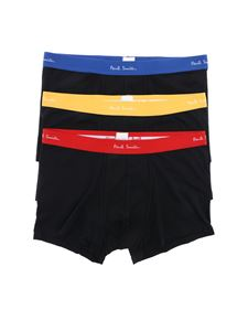 Paul Smith - Black Three Pack boxer with logo