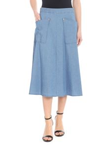 PS by Paul Smith - Cotton skirt in denim blue
