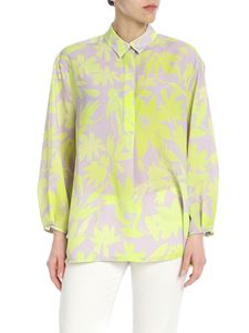 PS by Paul Smith - Blusa grigia con motivo fluo