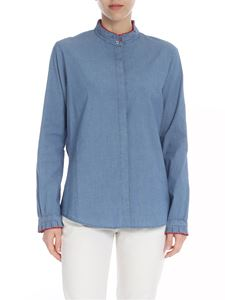 PS by Paul Smith - Cotton shirt in denim blue